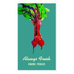 Cocinero sano vegetal de las remolachas tarjeta de visita