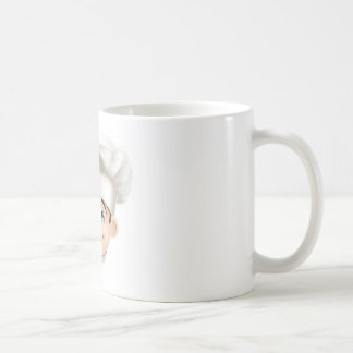 Cocinero sonriente del dibujo animado taza de café