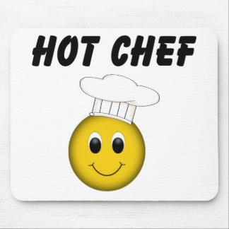 Cocinero sonriente Mousepad de la cara Alfombrillas De Raton