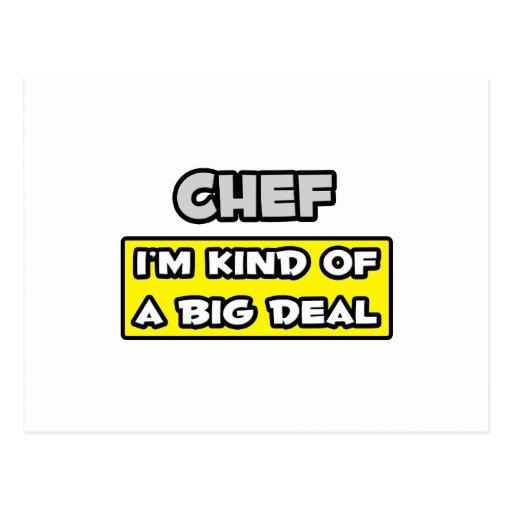 Cocinero. Soy un poco una gran cosa Tarjetas Postales