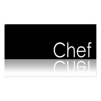 - Cocinero - tarjeta de visita reflexiva