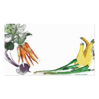 cocinero vegetal del ejemplo que cocina la tarjeta tarjetas de visita