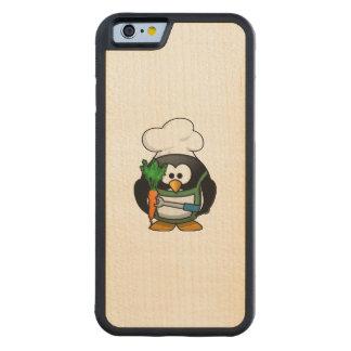Cocinero vegetariano del pingüino funda de iPhone 6 bumper arce