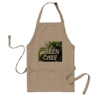 Cocinero verde delantal