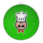 Cocinero verde tablero dardos