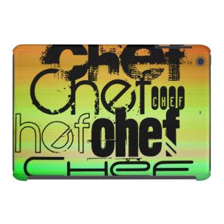 Cocinero; Verde vibrante, naranja, y amarillo Fundas De iPad Mini Retina
