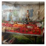 Cocinero - verdura - mercado fresco de los granjer azulejo cerámica