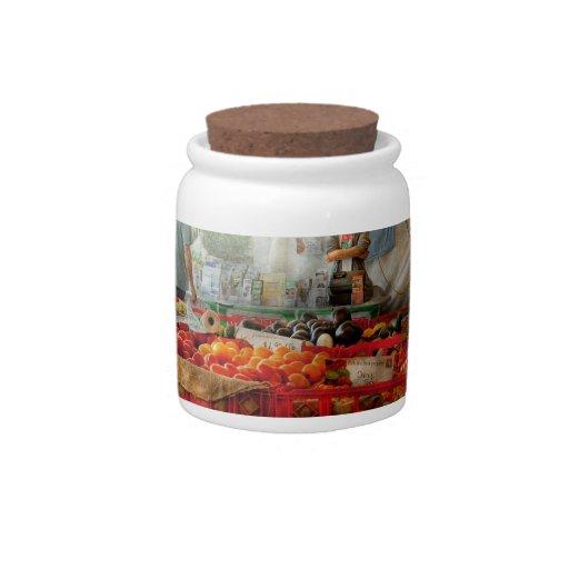 Cocinero - verdura - mercado fresco de los granjer jarras para caramelos
