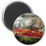 Cocinero - verdura - mercado fresco de los granjer iman para frigorífico