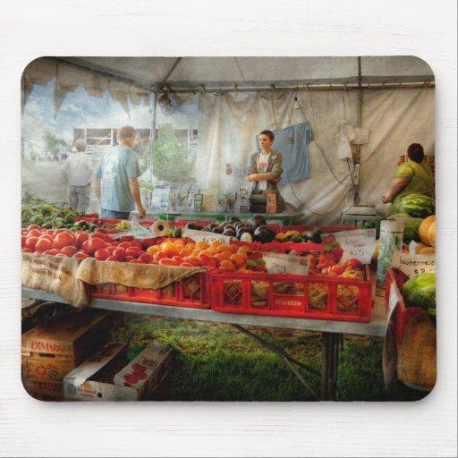 Cocinero - verdura - mercado fresco de los granjer alfombrilla de raton