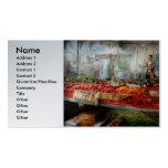 Cocinero - verdura - mercado fresco de los granjer tarjeta de visita