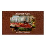 Cocinero - verdura - mercado fresco de los tarjetas de visita