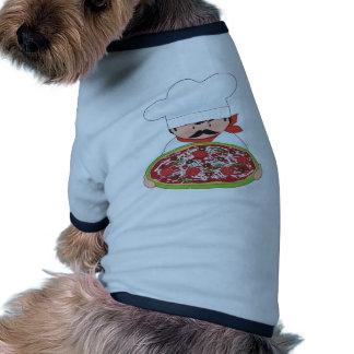 Cocinero y pizza ropa para mascota