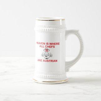 Cocineros austríacos tazas de café