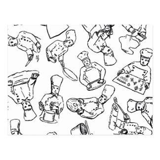 Cocineros, chefs de repostería y cocineros postales