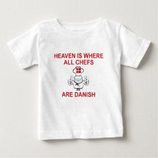 Cocineros daneses playera de bebé