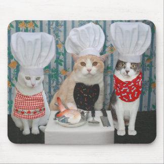Cocineros del gato/del gatito tapete de raton