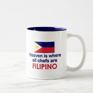 Cocineros filipinos divinos taza de dos tonos