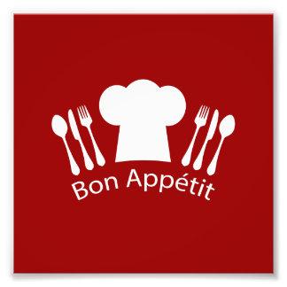 Cocineros franceses gorra y cubiertos del cojinete