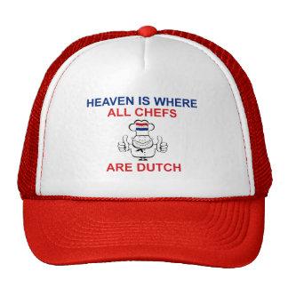 Cocineros holandeses gorros bordados