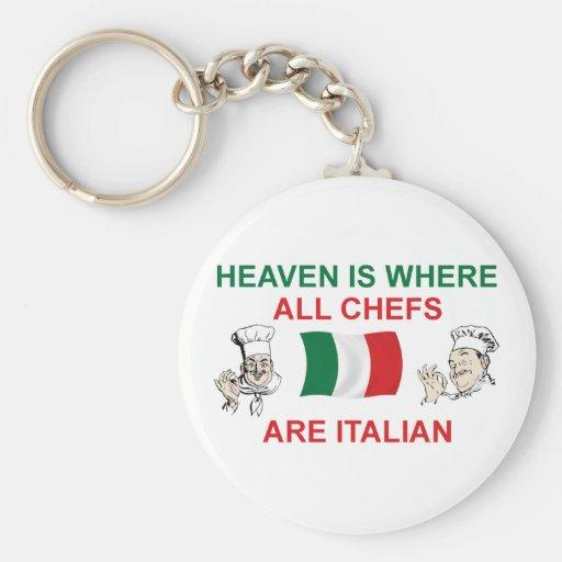 Cocineros italianos llavero redondo tipo pin