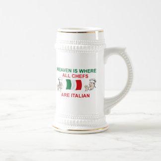 Cocineros italianos tazas de café