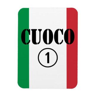 Cocineros italianos: Uno de Cuoco Numero Imán Flexible