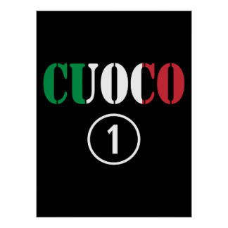 Cocineros italianos: Uno de Cuoco Numero Impresiones