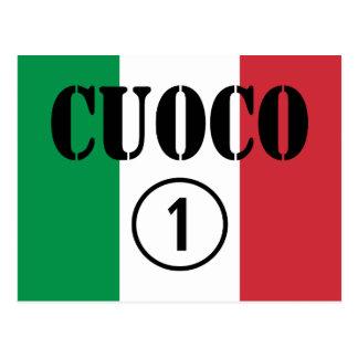 Cocineros italianos: Uno de Cuoco Numero Tarjeta Postal