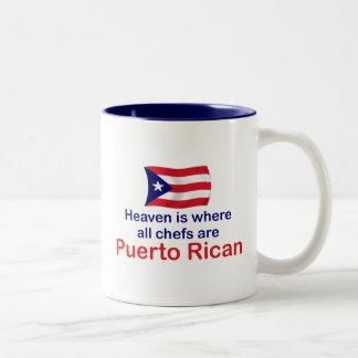 Cocineros puertorriqueños taza de dos tonos