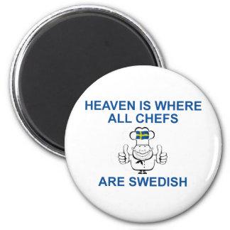 Cocineros suecos imán redondo 5 cm