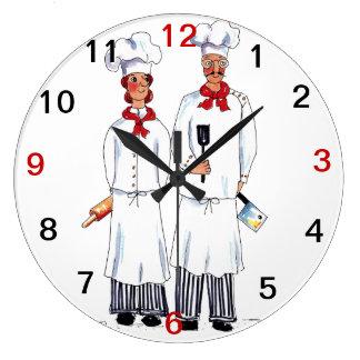 Cocineros y reloj de pared de los cuchillos