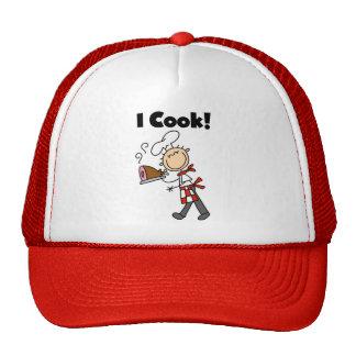Cocino - al cocinero de sexo masculino gorras de camionero