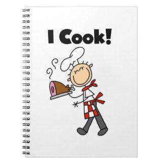 Cocino - al cocinero de sexo masculino libreta