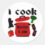 Cocino, por lo tanto estoy con el pote y la tapa etiquetas redondas