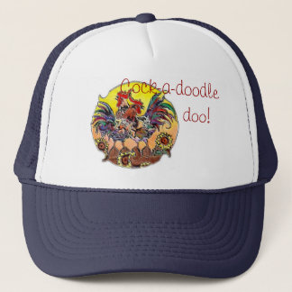 Cock-a-doodle-doo! By SHARON SHARPE Trucker Hat