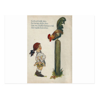 Cock-a-doodle-doo Postcard