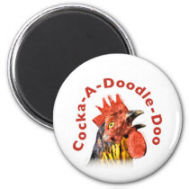 Cock-A-Doodle-Doo Rooster Magnet