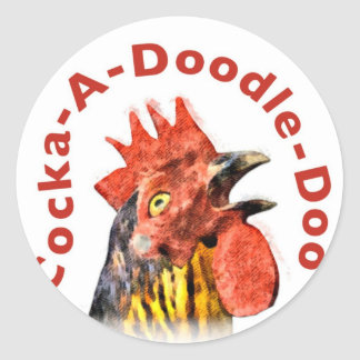 Cock-A-Doodle-Doo Rooster Classic Round Sticker