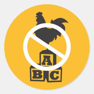 Cock Block Classic Round Sticker