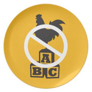 Cock Block Dinner Plate