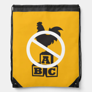 Cock Block Drawstring Backpack