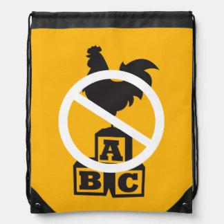 Cock Block Drawstring Bag