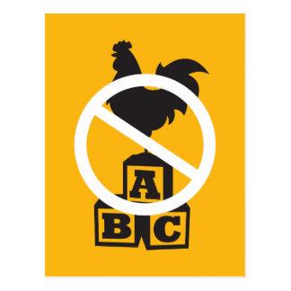 Cock Block Postcard