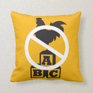 Cock Block Throw Pillow
