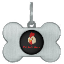 Cock With Attitude Pet Tag