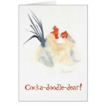 Cocka-doodle-dear! Card