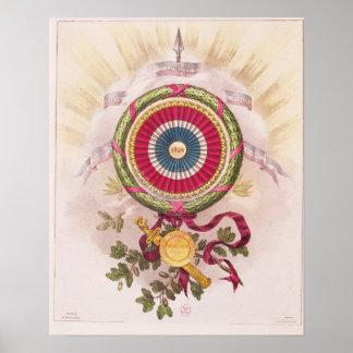 Cockade, emblem of 1848 print