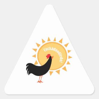 Cockadoodledo! Triangle Sticker