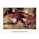 Cockaigne By Bruegel A. Pieter Postcard